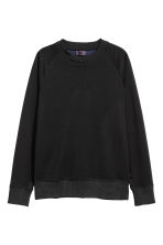 Lyocell-blend sweatshirt - Black - Men | H&M CN 2